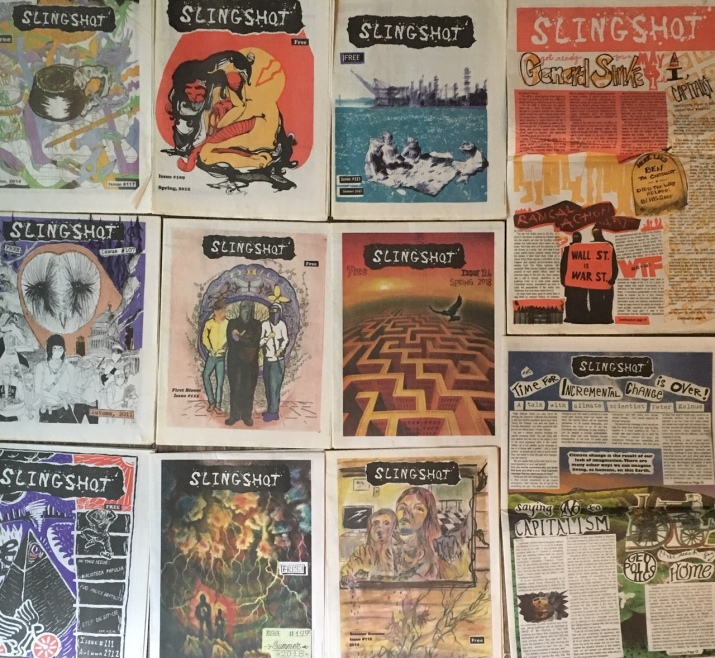 Various issues of Slingshot 2011-2018.