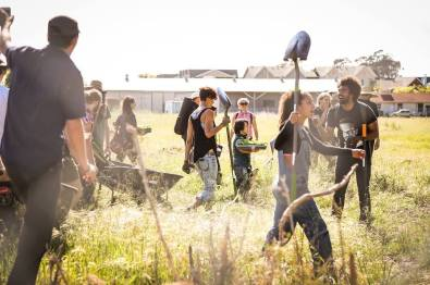 A farm occupation in Albany, CA in 2013. (photo by Brooke Porter)